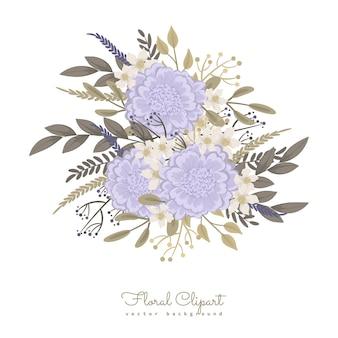 Fleurs violettes douces