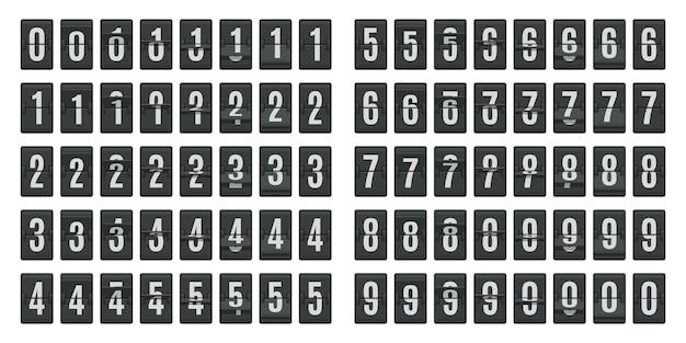 Flip animation de compte à rebours isolé sur blanc
