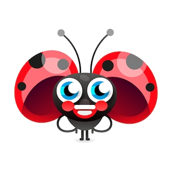 Flirtatious flying little ladybug