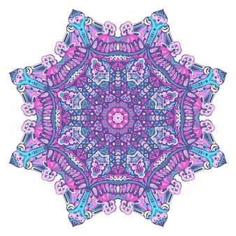 Flocon de neige avec des arabesques et des éléments floraux.