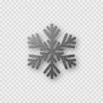 Flocon de neige argenté scintillant.