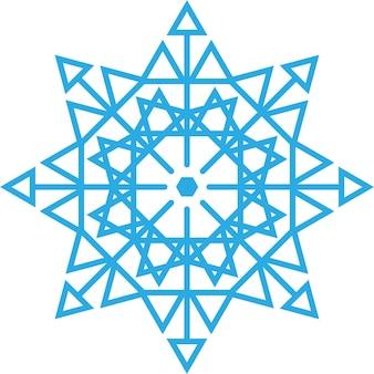 Flocon de neige bleu illustration sur fond blanc vecteur