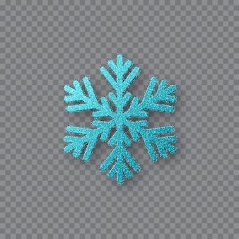 Flocon de neige bleu pailleté.