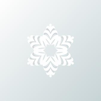 Flocon de neige, joyeux noël et bonne année