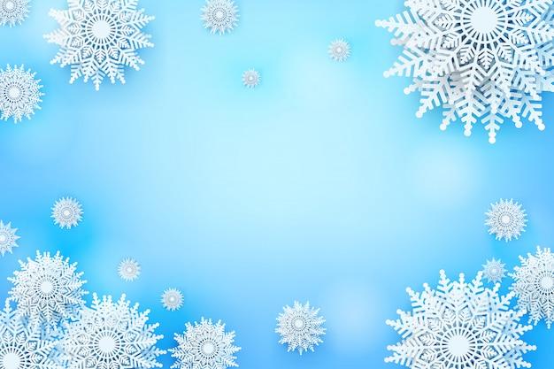 Flocon de neige de noël avec espace de copie