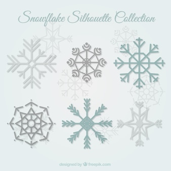 Flocon de neige silhouettes collection