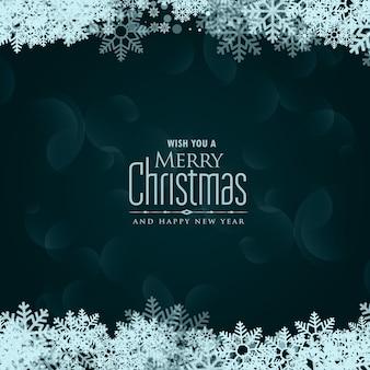Flocons de neige joyeux Noël vector background
