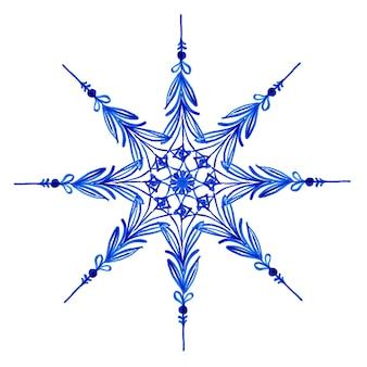 Flocons de neige aquarelle de noël
