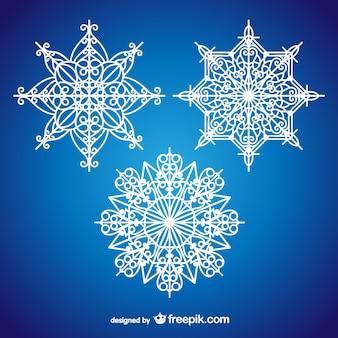 Flocons de neige artistiques pour noël
