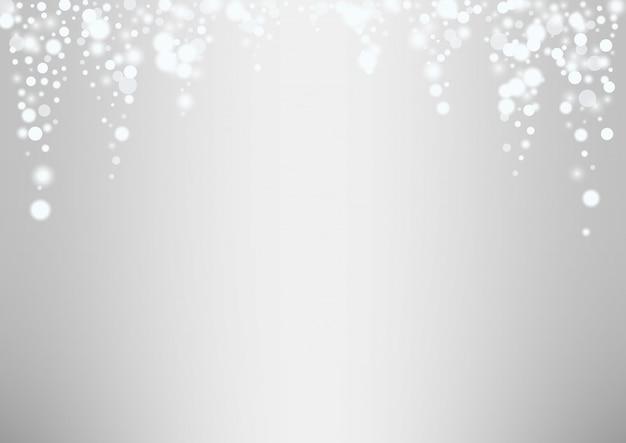 Flocons de neige blanche rougeoyante fond de noël