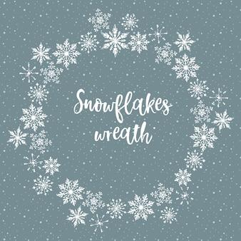 Flocons de neige blancs - couronne de noël