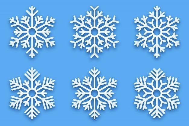 Flocons de neige décoratifs 3d papercut