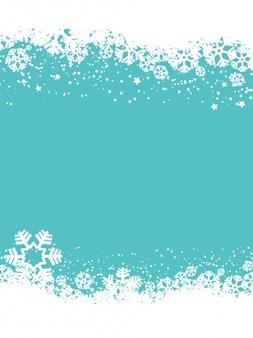 Flocons de neige fond bleu noël