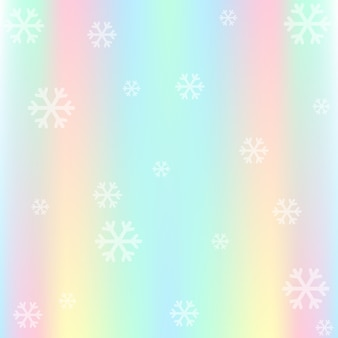Flocons de neige avec fond pastel