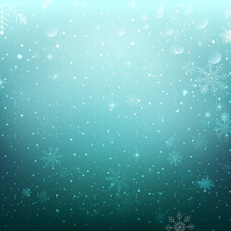Flocons de neige fond