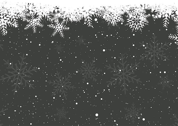Flocons de neige d'hiver