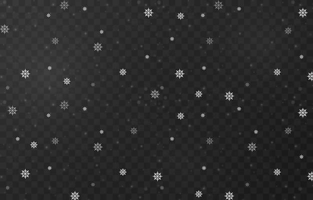 Flocons de neige sur un isolé
