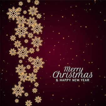 Flocons de neige joyeux noël célébration fond festif