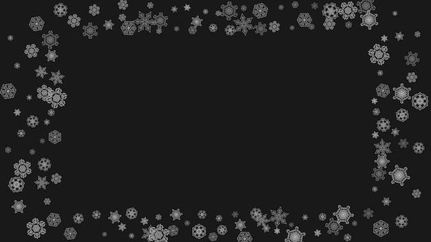 Flocons de neige de noël et du nouvel an