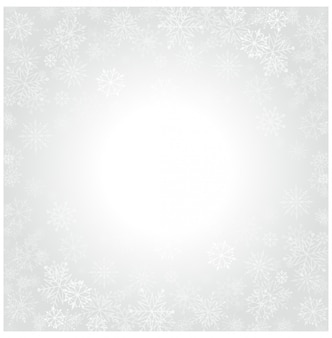 Flocons de neige de noël et fond clair de fête