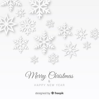 Flocons de neige de noël en papier