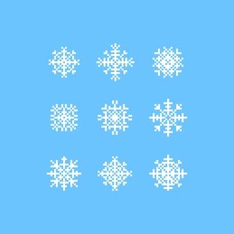 Flocons de neige en pixels