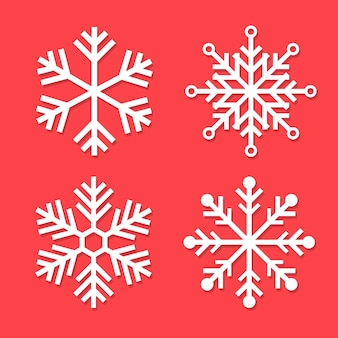 Flocons de neige pour élément carte noël et nouvel an.