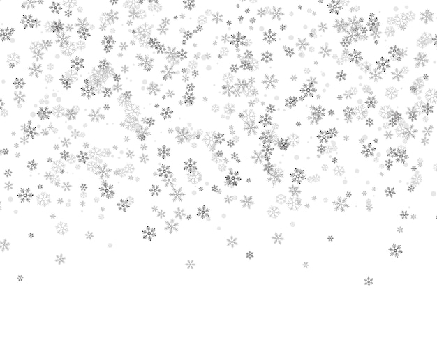 Flocons de neige tombant du ciel