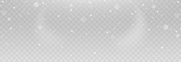 Flocons de neige de vecteur.