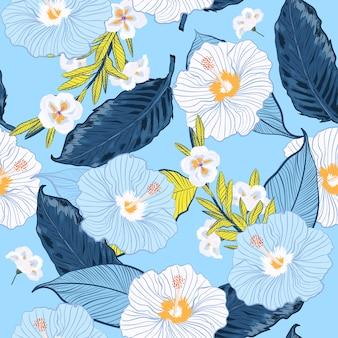 Floraison vectorielle continue motif floral