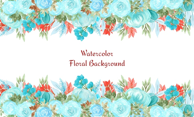 Floral abstrait avec fleurs aquarelles