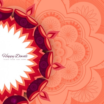 Floral background de diwali