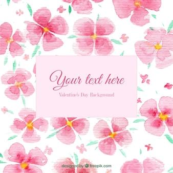 Floral Background Valentine Dans Un Style Peint à La Main Vecteur gratuit