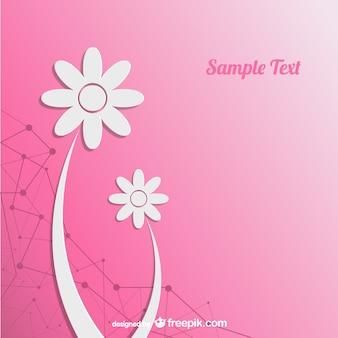 Floral carte de découpage de papier