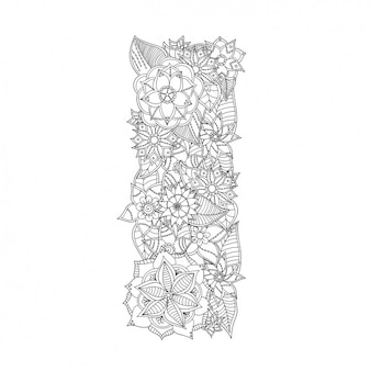 Floral design lettre