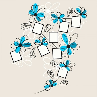 Floral dessin polaroid