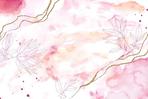Floral fond aquarelle dessinés à la main