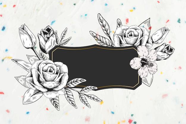 Floral fond encadré