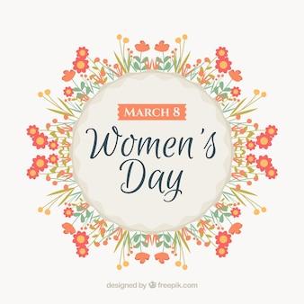 Floral fond de la journée des femmes