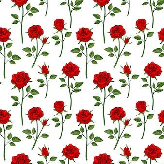 Floral fond sans couture anglais victorien