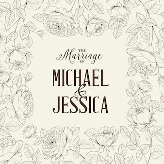Floral frame pour les mariages