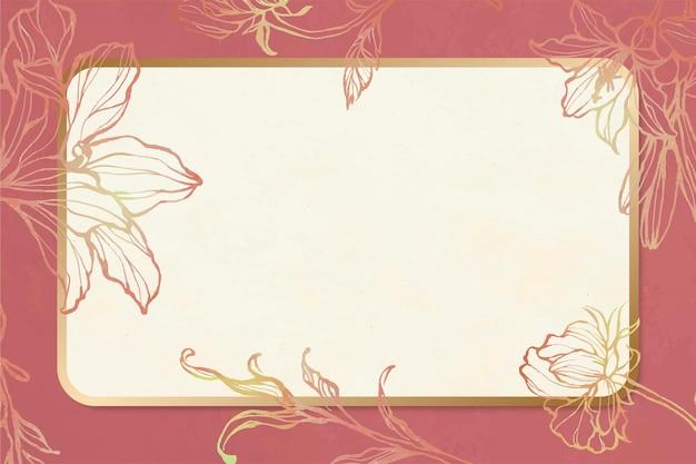Floral frame vector vintage dessinés à la main