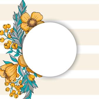 Floral frontière fond fleur frontière
