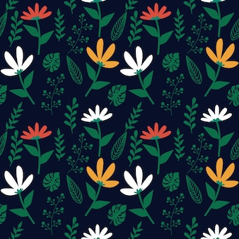 Floral leaf seamless pattern