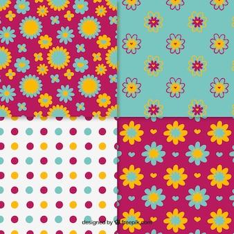 Floral et motifs pointillés collection