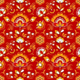Floral pattern sans couture dans le style folklorique russe