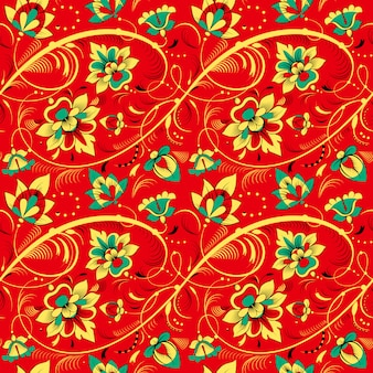 Floral pattern sans couture dans le style de la tradition russe