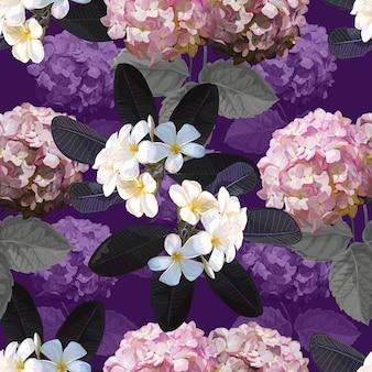Floral pattern sans couture avec fleur de plumeria