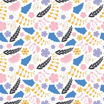 Floral pattern sans couture avec des fleurs roses et violettes
