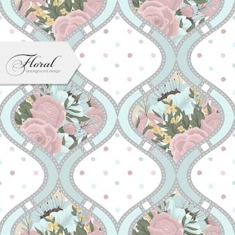 Floral pattern sans couture avec des fleurs